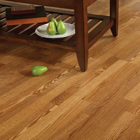 This Williamsburg Oak Laminate Floor Goes Great With Darker Wood