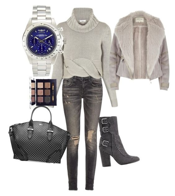 """Νο 51"" by nzikop on Polyvore featuring R13, C/MEO COLLECTIVE, Laurence Dacade, Alexander McQueen, River Island, Tory Burch and Invicta"