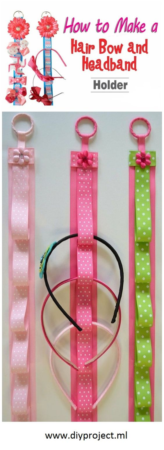 how to make a simple hairstyle at home : How to Make DIY Hair Bow and Headband Holder Bows and headbands ...