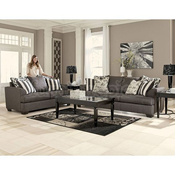 Levon Charcoal Living Room Set Ashley Furniture Gable Pinterest Love Seat Turquoise And