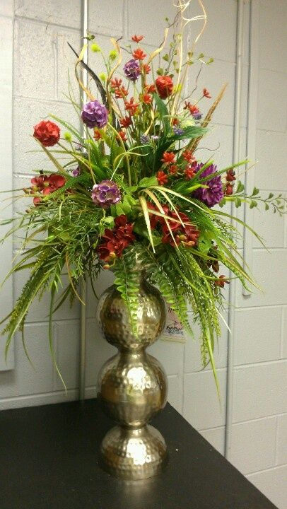 Large Unique Silk Floral Arrangements Custom By Kel