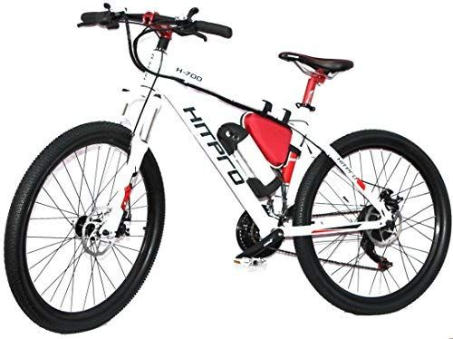 Hitpro White Electric Mountain Bike E Bike Hp 04 26 Uk Amazon Co Uk Sports Outdoors Electric Mountain Bike Ebike Bike