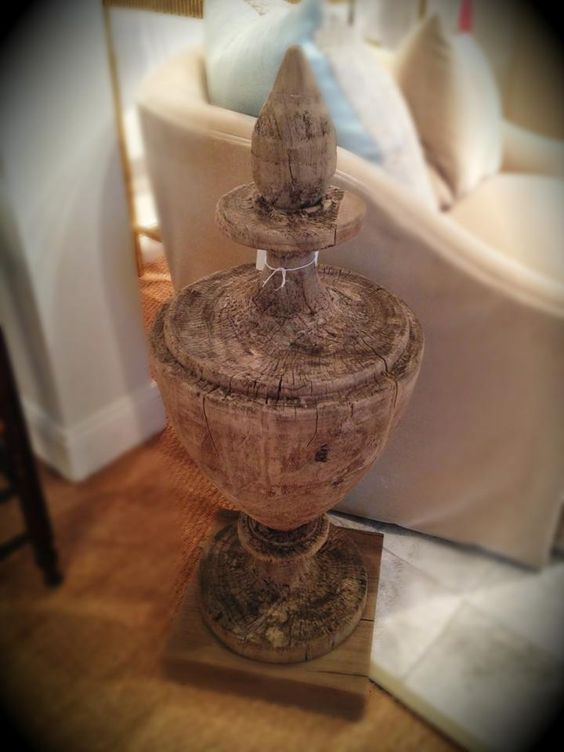 Love this wooden urn!