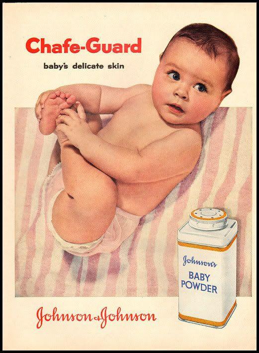 johnson and johnson vintage ad   1956 vintage ad for Johnson and Johnson Baby Powder-135   eBay
