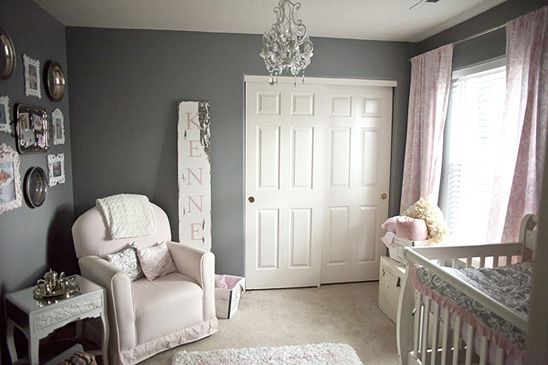 pink accents shabby chic and nursery ideas on pinterest. Black Bedroom Furniture Sets. Home Design Ideas