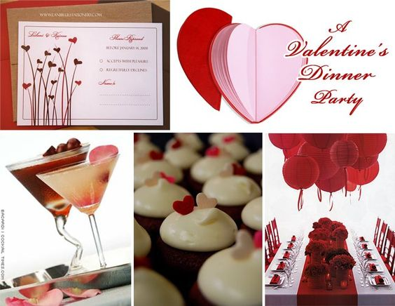 Valentines dinner party posh events pinterest for Valentines dinner party ideas