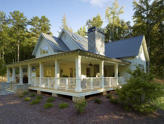 I want a full wrap around porch farmhouse style homes for Full wrap around porch log homes