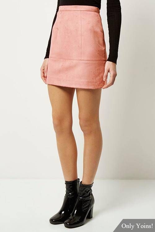 Pink Suede Mini Skirt | Jill Dress