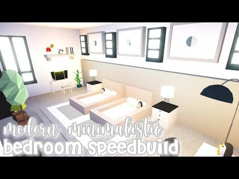 Modern Minimalistic Futuristic House Bedroom Speed Build Roblox Adopt Me Youtube Futuristic Home Cute Room Ideas House Decorating Ideas Apartments