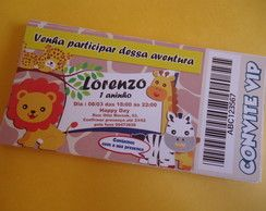 Convite Ingresso SAFARI BABY