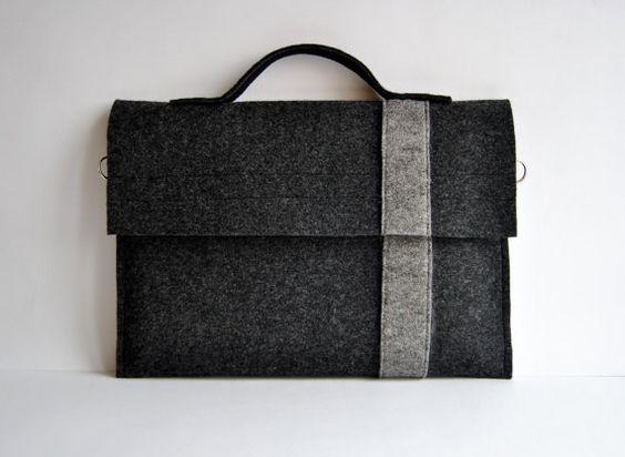 Macbook 11 sac de feutre pour ordinateur portable par kmBaggies, $23.00