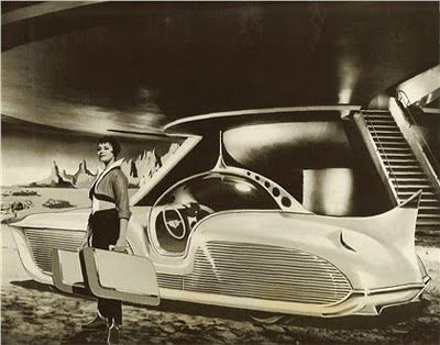 """ASTRA-GNOME """"Time and Space Car"""" was designed by Richard Arbib Co. Inc"""