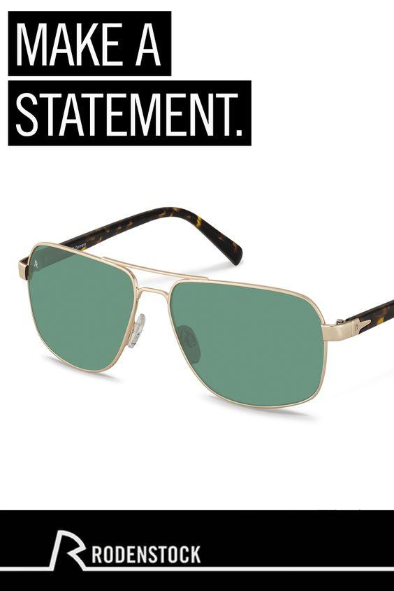 Setzen Sie ein Statement mit der Sonnenbrille R1413 für Männer von Rodenstock. Diese lässige Brille im Piloten-Look verleiht jeden Outfit das gewisse Etwas.