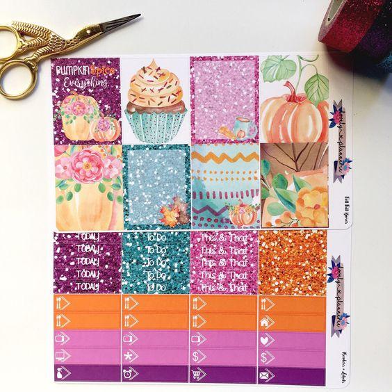 😍 Pumpkin Spice Sticker kit, weekly sticker kit, pumkin stickers, fall stickers by lovelyplannerie on Etsy https://www.etsy.com/listing/467329914/pumpkin-spice-sticker-kit-weekly-sticker