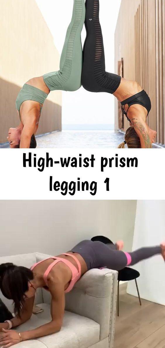 High Waist Prism Legging 1 Legging Women Fitness Diet Calorie Tracker