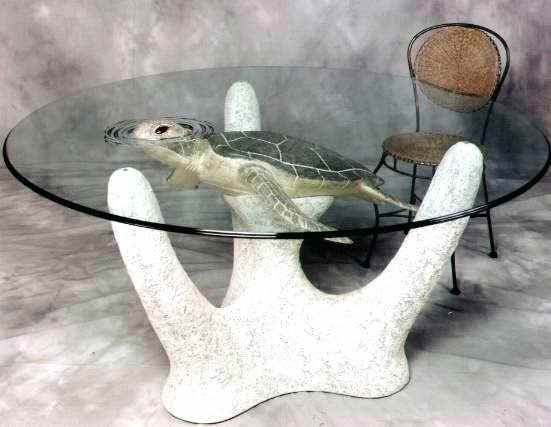 Turtle Coffee Table Sea Turtle Dining Table With Etched Rippled Glass Around The Turtles Head Limited Ed Sea Turtle Decor Turtle Terrarium Turtle Spirit Animal