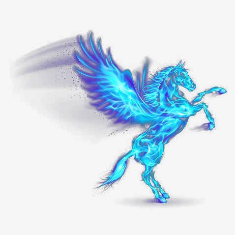 Flame Pegasus Blue Flame Wing Angel Png And Psd Pegasus Wings Png Angel Vector