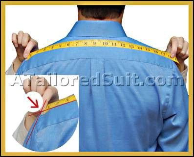 how to measure for mans suit jacket.