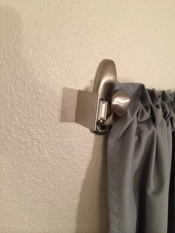 Real Life Pinterest Tried The Sticky Hooks For Curtain Rod Brackets At Our Leased Town Home