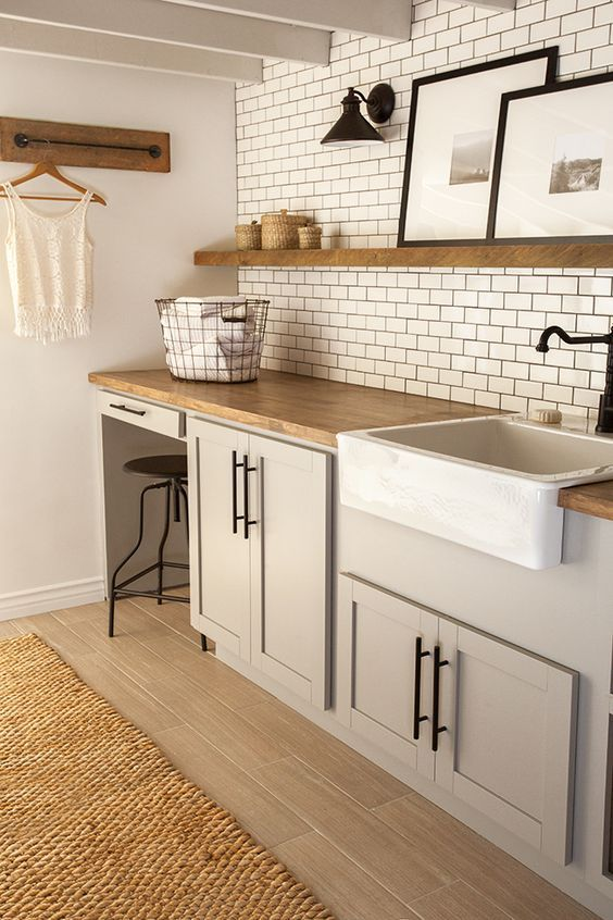 Towel rod for hanging hangers ... maybe instead of hooks???Install them on thick flat molding at top of bead board ... hmm ... New Laundry Room: The Reveal! http://www.slideshare.net/sweetheartleslie/beautiful-gorgeous-kitchenaid-stand-mixers-best-household-stand-mixer-reviews