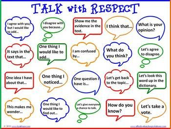 Accountable Talk Bubbles for Literacy & Problem Solving - Student led conversations accountable to the learning content or text is the heart of accountable talk. Accountable talk can be taught and used in any grade level or subject area. The talk bubbles are simply a visual reminder of how people respectfully share opinions, ideas, and thoughts.