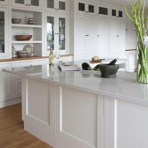 Buy Qz871 White Classic Kitchen Design White Quartz Countertops