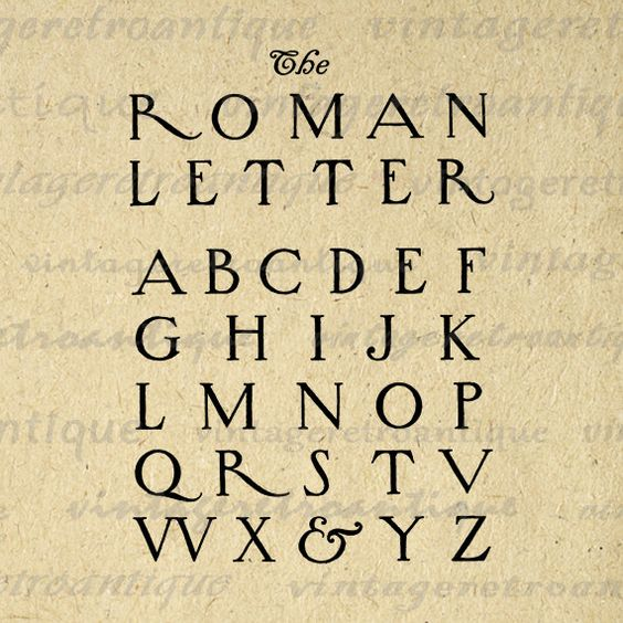 Printable Graphic Roman Style Letters Download Alphabet ...