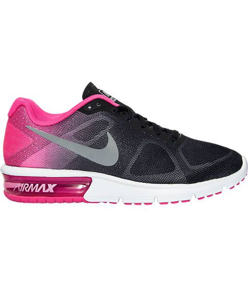 NEW !! Blinged Black / Pink Women\u0026#39;s Nike Air Max Sequent w/ Swarovski Crystals