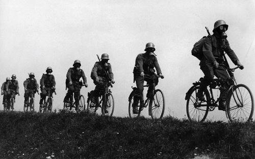 Gas Mask Bikes -- That is tough work.