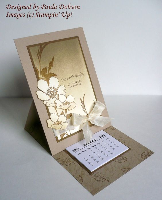 Stampin Up Calendar Ideas : Stampin up cute calendar card little calendars