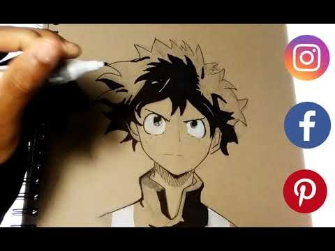 How To Draw Deku Midoriya My Hero Academia Anime Speed Drawing Challenge Season 1 2 3 4 Tutorial Youtube Drawing Challenge Drawings Youtube Art Tutorials