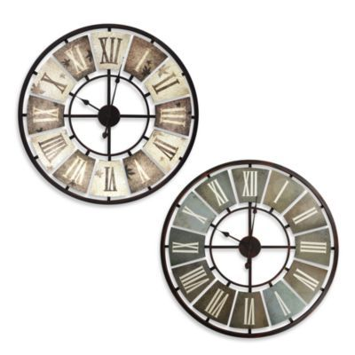 Buy Metal Cutout Clock in Brown and Cream from Bed Bath & Beyond