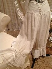 I want some bloomers for pajamas! They look so elegant and comfy! Magnolia Pearl white linen Nona bloomers with lace
