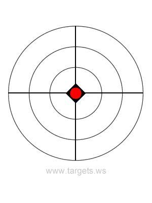 bullseye template printable - bullseye target 18 airguns pinterest target