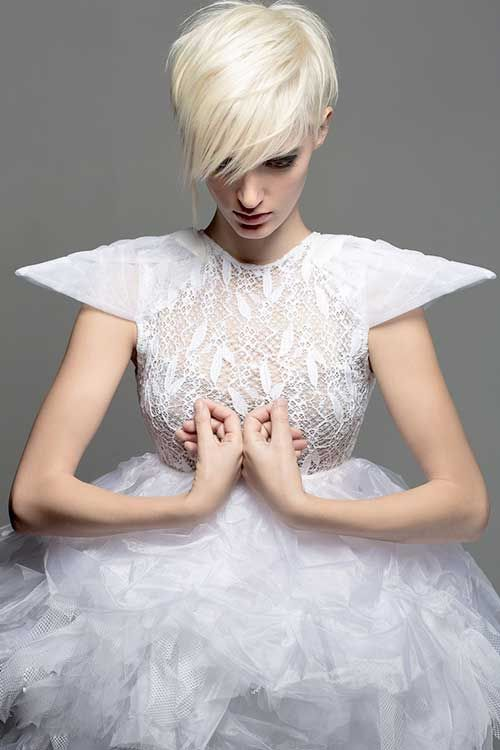 25 Short Bleached Blonde Hair | http://www.short-hairstyles.co/25-short-bleached-blonde-hair.html