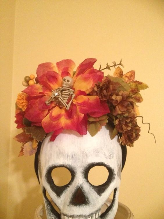 Day of the Dead Halloween Skeleton Flower by SADIESORIGINALS, $25.00