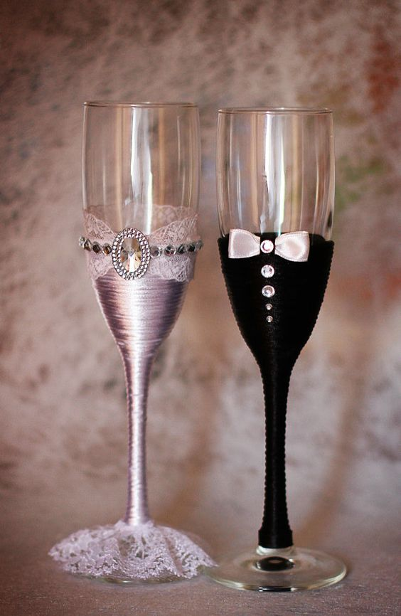 Copas de champ n gafas gafas r stica boda novia y novios for Copas de champagne