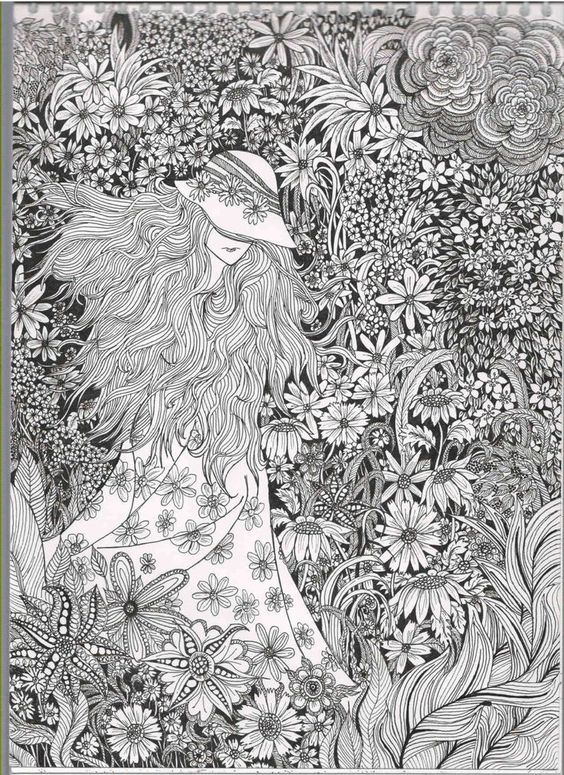 very detailed adult coloring pages - photo#34