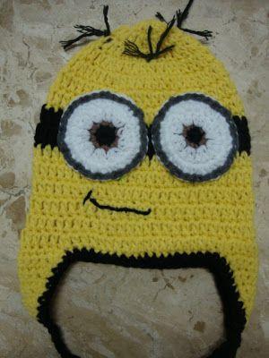 Minion Crochet Hat - adapted pattern