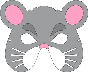 View design mouse mask drama club pinterest mouse for Printable mouse mask template