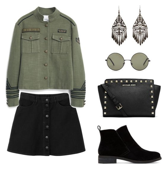 """""""INSTAGRAM @_lofit_"""" by lofites ❤ liked on Polyvore featuring Monki, MANGO, Charlotte Russe, Forever 21, MICHAEL Michael Kors and Lucky Brand"""