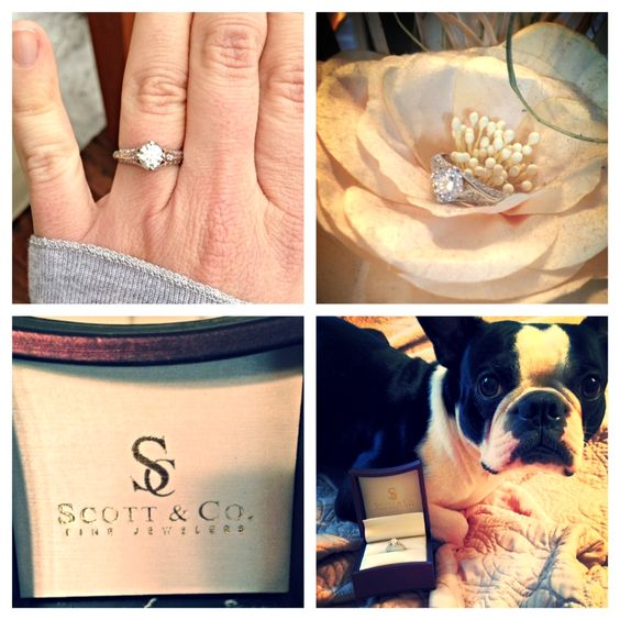 Day 2 - Wedding Rings...The Ring!! Everything I could've hoped for... so unique and beautiful :) Big shout out to Scott and Co. out of New Oxford, PA!  #EveningSun #DreamWedding #scottandcofinejewelers