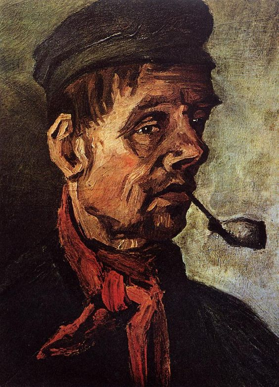 Head of a Peasant with a Pipe , 1884, by Vincent van Gogh
