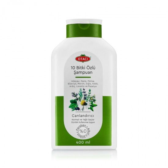 شامبو النباتات العشر من أكثر المنتجات مبيع ا في تركيا لشعر صحي و جذاب 400 مل Shampoo Bottle Shampoo Bottle