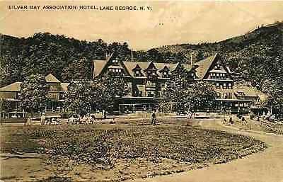 Lake George New York NY 1907 Silver Bay Association Hotel Vintage Postcard