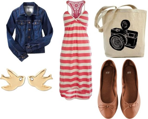 """""""Back to school Outfit #3 (Stripped Dresses)"""" by glamcartel on Polyvore"""