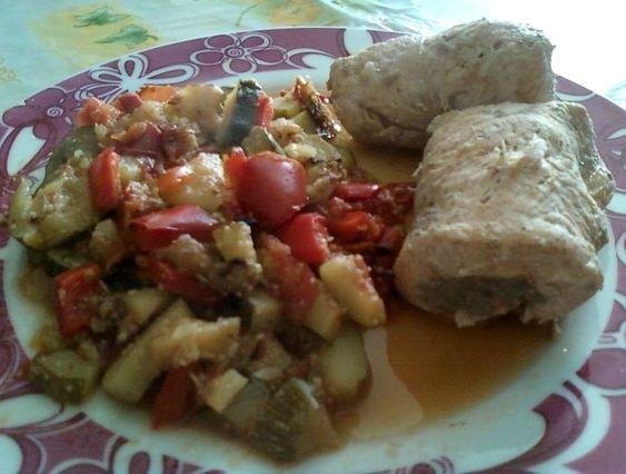 Paupiettes de dinde farcies aux champignons et l gumes du soleil au four dukan pl recettes - Recette dinde farcie au four ...