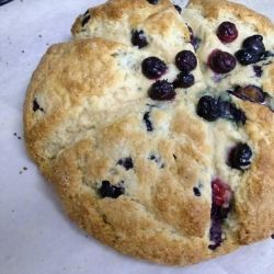 Blueberry Scones - The perfect breakfast whether you're on the go or taking time to savor a cup of coffee while you eat!