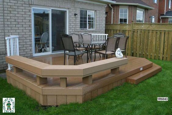 deck bench plans | ... deck plan is for a medium size, low, single level deck with a bench
