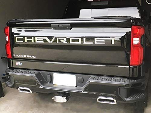 Kenpenri Tailgate Insert Letters For 2019 2020 Chevrolet Silverado 3m Adhesive 3d Raised Tailgate Letters Chrome Silver Car Accessories Online Market In 2020 Chevrolet Silverado Truck Accesories Chevy Silverado Accessories